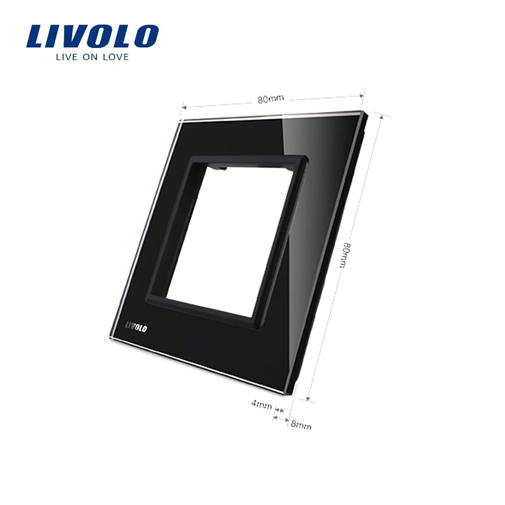 Ramă priză simplă din sticlă Livolo