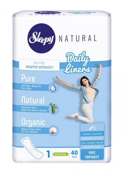 Absorbante Sleepy Natural Daily Normal 40 buc [0]