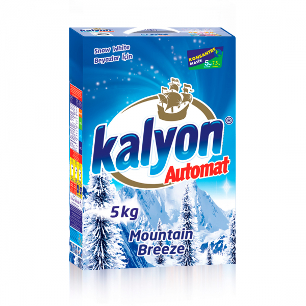Detergent automat Kalyon Mountain Breeze White 5 Kg Box 0