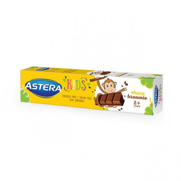 Pasta de dinti ASTERA KIDS 2+ Choco Brownie 50 ml 0