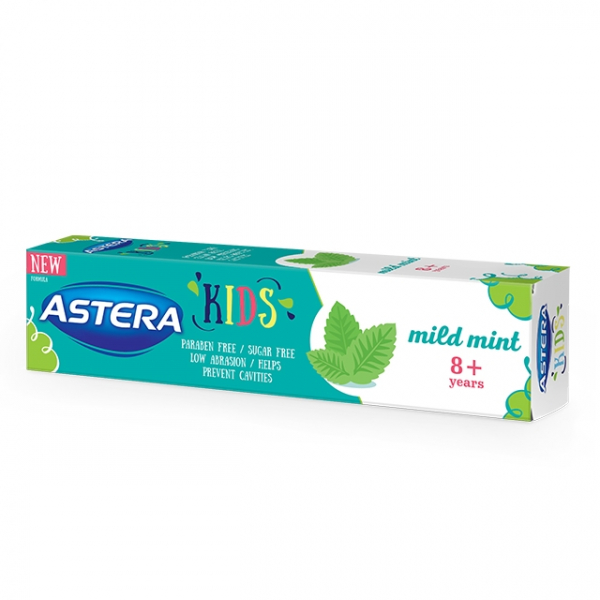 Pasta de dinti ASTERA KIDS 8+ Mild Mint 50 ml 0