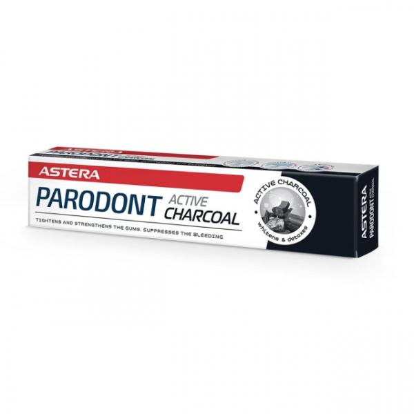 Pasta de dinti ASTERA PARODONT ACTIVE CHARCHOAL 75ml [0]