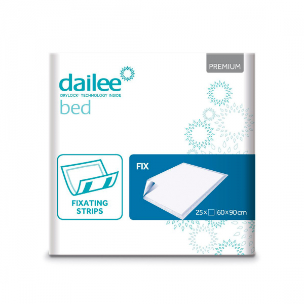 Paturici absorbante pentru pat DAILEE Bed Premium Fix 60x90 cm 25 bucati 0