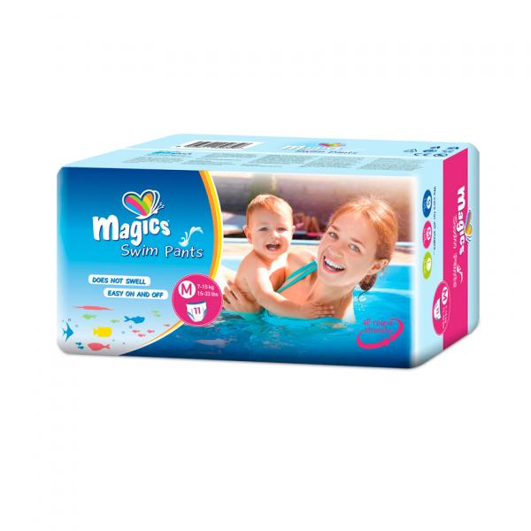 Scutece chilotel pentru apa Magics Pants Air Tubes Marime M(3-4), 7-15kg, 11 bucati 0