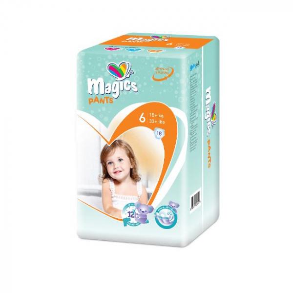 Scutece chilotel Magics Pants Air Tubes Marime 6 XLarge, 15+kg, 18 bucati [0]