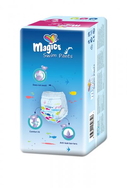 Scutece chilotel pentru apa Magics Pants Air Tubes Marime M(3-4), 7-15kg, 11 bucati 1