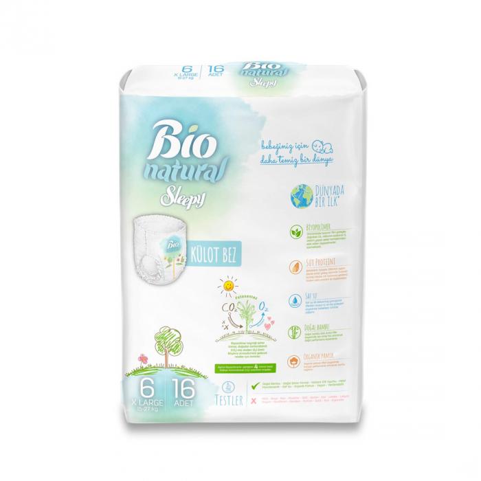Scutece Chilotel Bio Natural Marime 6 XLarge 15-27kg, 16 bucati [1]