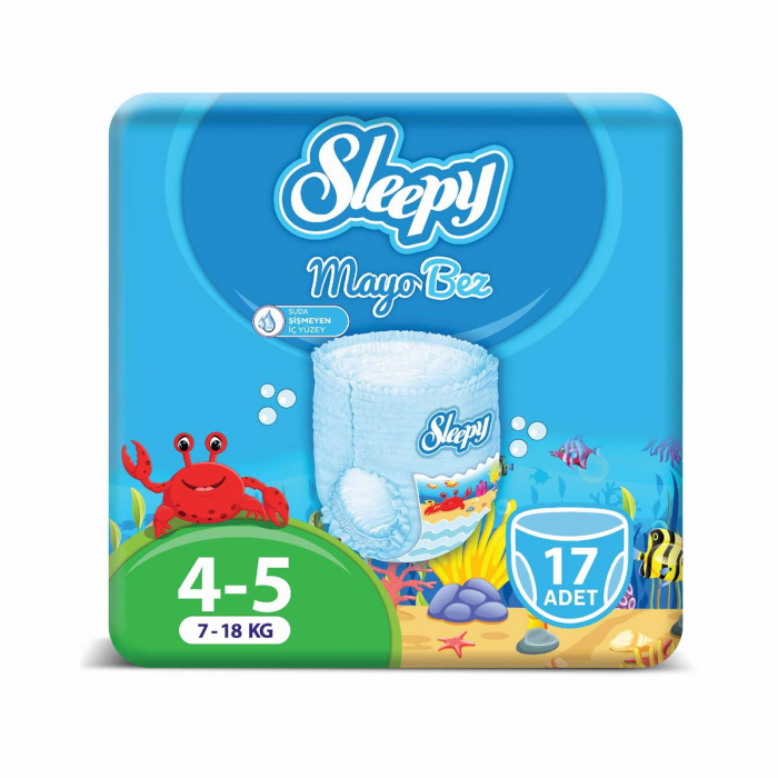 Scutece chilotel pentru apa Sleepy Marime 4-5, 7-18kg, 17 bucati [0]