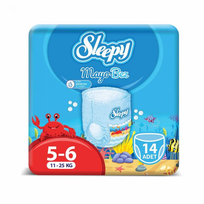 Scutece chilotel pentru apa Sleepy Marime 5-6, 11-25kg, 14 bucati [0]