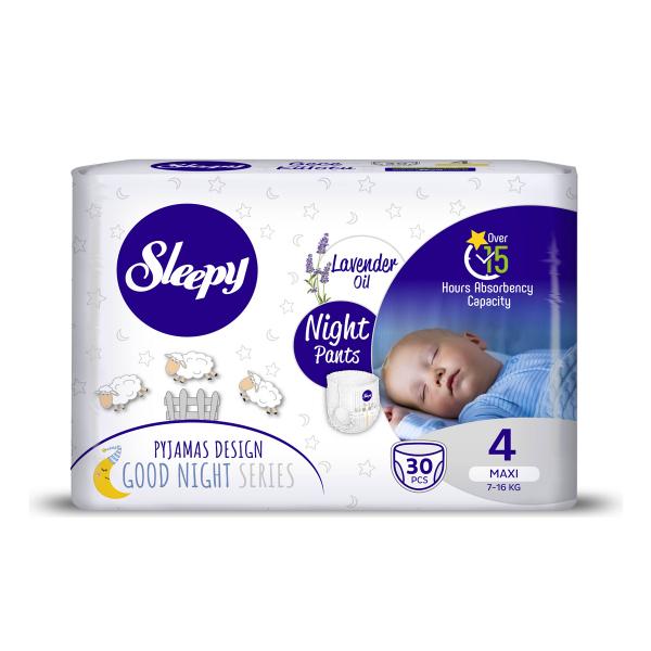 Scutece Chilotel Sleepy Natural Pants Ultra Sensitive Night Marime 4 Maxi , 7-14kg, 30 bucati 0
