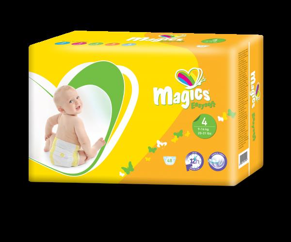 Scutece Magics Easysoft Marime 4 Maxi, 9-14 kg, 48 bucati 0