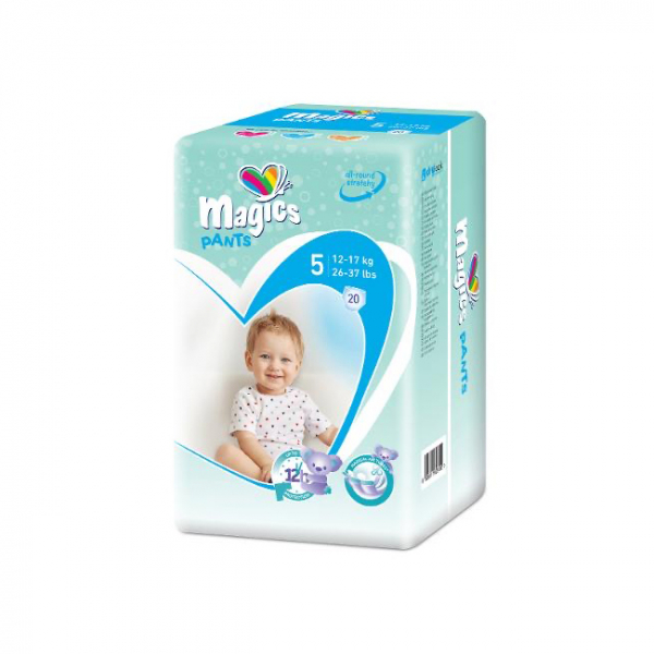 Scutece chilotel Magics Pants Air Tubes Marime 5 Junior, 12-17kg, 20 bucati 0