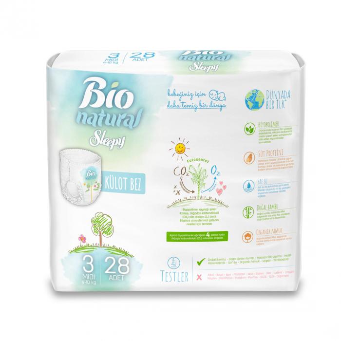 Scutece Chilotel Sleepy Bio Natural Marime 3 Midi , 4-10kg, 28 bucati 1