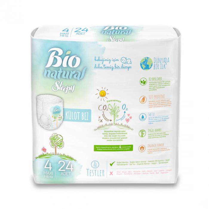 Scutece Chilotel Sleepy Bio Natural Marime 4 Maxi , 7-16kg, 24 bucati 1