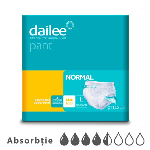 Scutece tip chilot DAILEE Pants Adult Normal 4,5 Picaturi, L 110 - 150 cm, 14 bucati 0