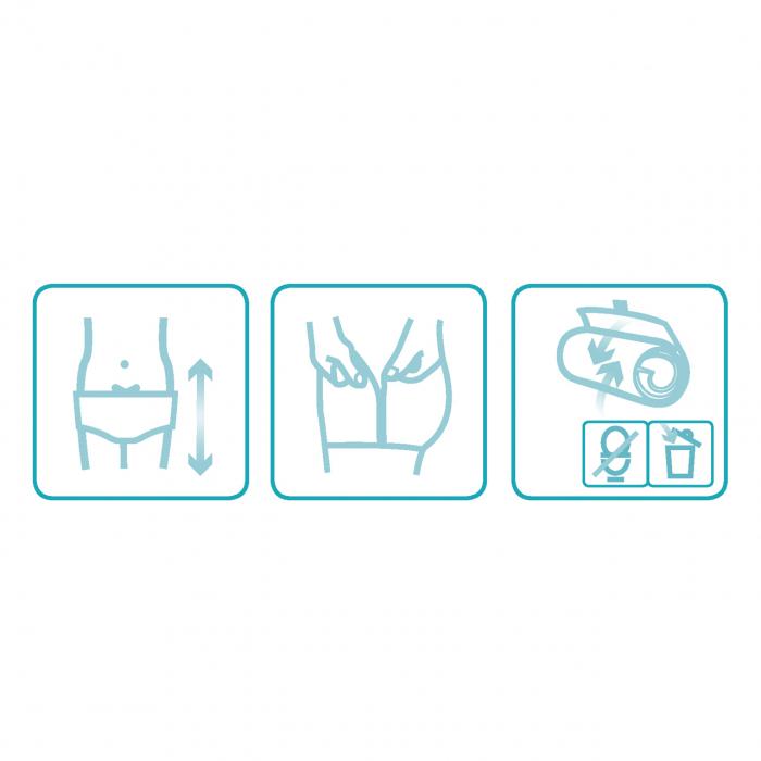 Scutece tip chilot DAILEE Pants Adult Super 6.5 Picaturi, XL 145-180 cm, 14 bucati [3]