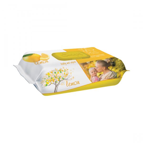 Servetele umede bebelusi Sleepy Lemon, 120 bucati, aroma de lamie 0