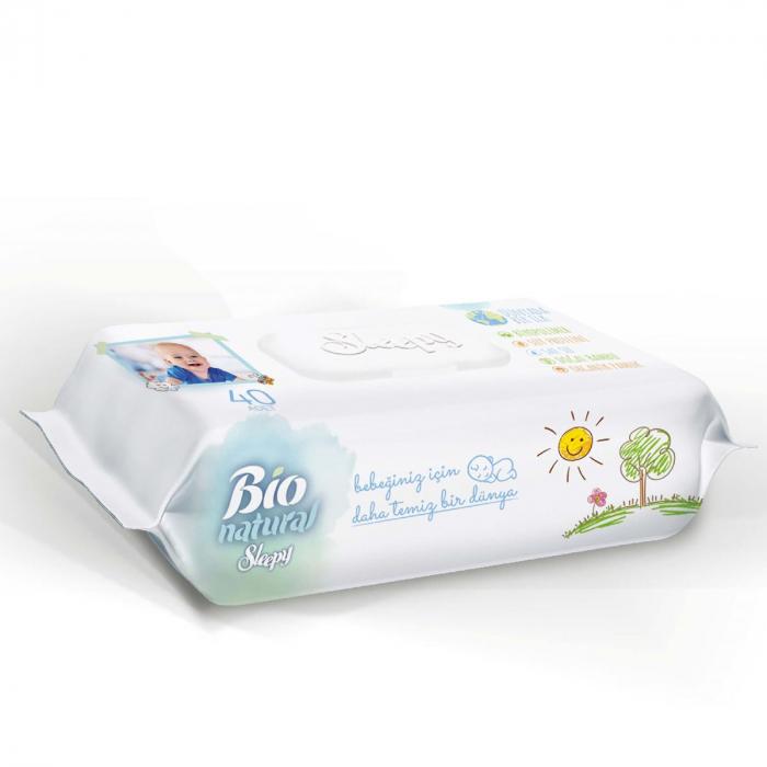 Servetele umede SLEEPY Bio Natural 40buc 1