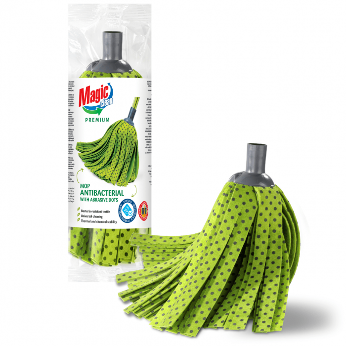 Rezerva pentru mop MAGIC CLEAN PREMIUM Antibacterial cu suprafata Abrasiva [0]