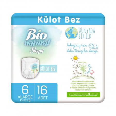 Scutece Chilotel Bio Natural Marime 6 XLarge 15-27kg, 16 bucati [0]