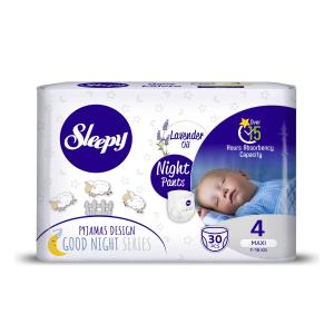 Scutece Chilotel Sleepy Natural Pants Ultra Sensitive Night Marime 4 Maxi , 7-14kg, 30 bucati0