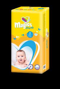 Scutece Magics Easysoft Marime 2 Mini, 4-8 kg, 60 bucati0
