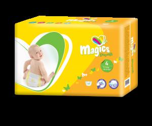 Scutece Magics Easysoft Marime 4 Maxi, 9-14 kg, 48 bucati0
