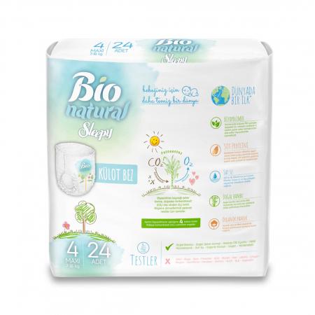 Scutece Chilotel Sleepy Bio Natural Marime 4 Maxi , 7-16kg, 24 bucati1