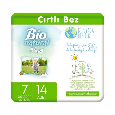 Scutece Sleepy Bio Natural Marime 7 XXLarge , 20-30kg, 14 bucati [0]