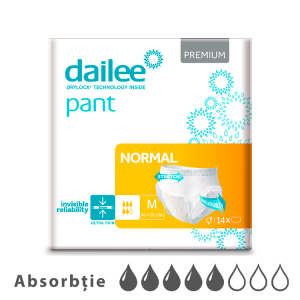 Scutece tip chilot DAILEE Pants Adult Premium Air Tubes 5 Picaturi, M 80-120 cm, 14 bucati0