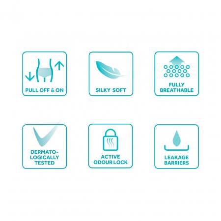 Scutece Adulti DAILEE Slip Premium MaxiPlus 9 Picaturi, L/XL 120-170 cm 28 bucati [2]