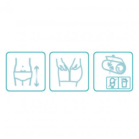 Scutece tip chilot DAILEE Pants Adult Super 6.5 Picaturi, M 80-110 cm, 14 bucati [3]