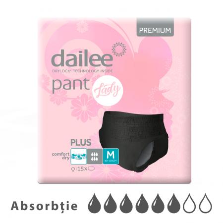 Scutece tip chilot DAILEE Pants LADY Premium Plus 6 Picaturi, M 80-120 cm, 15 bucati [0]