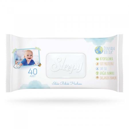 Servetele umede SLEEPY Bio Natural 40buc0