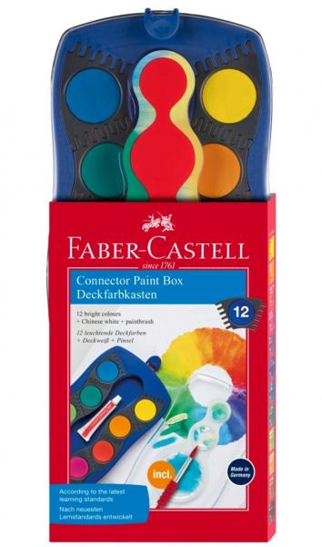 Acuarele 12 Culori Connector Faber-Castell [0]