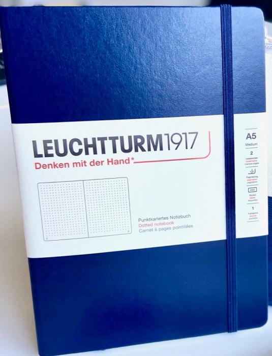 Agenda A5 LEUCHTTURM1917 Albastru Navy, liniatura punctata tip Bullet Journal 0