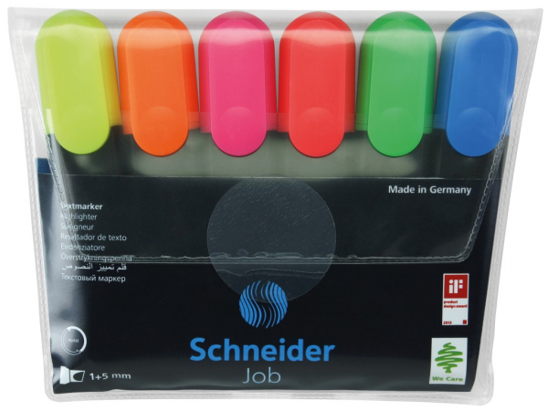 Set textmarker Schneider Job 6 culori/set 0