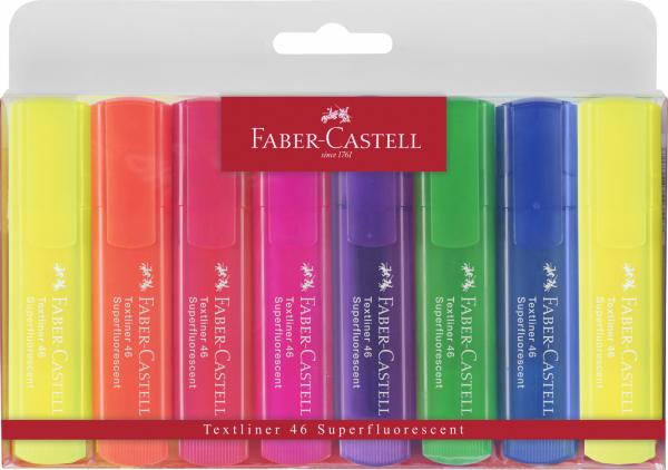 Evidentiator fluorescent Faber-Castell 8 buc/set 0