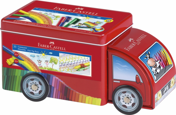 Set Carioca Faber-Castell Camion Connector - 33 culori [1]