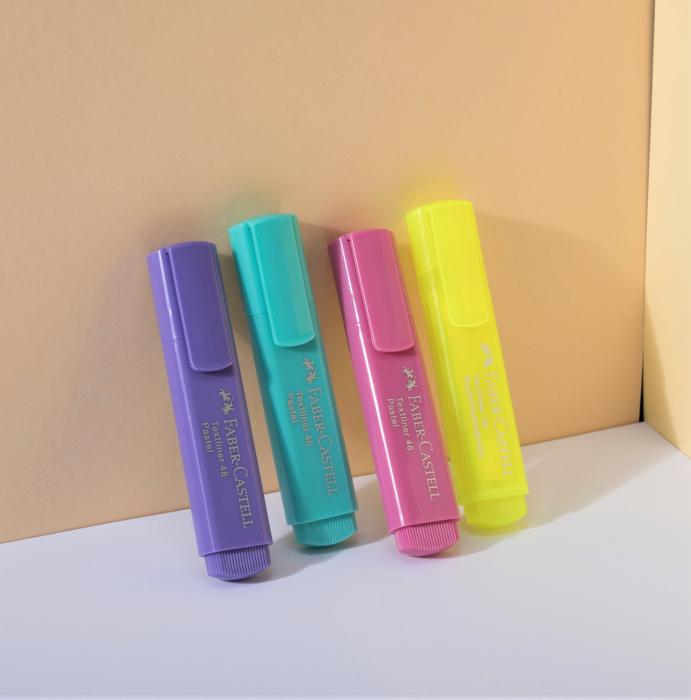 Textmarker Faber-Castell PASTEL 4 buc/set [2]