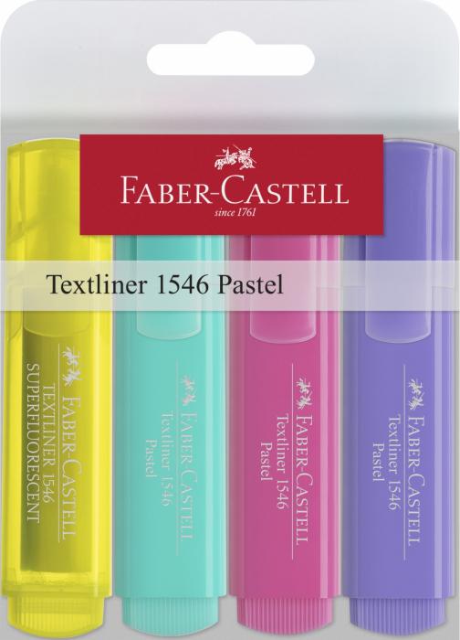 Textmarker Faber-Castell PASTEL 4 buc/set [1]