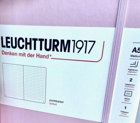 Agenda A5 LEUCHTTURM1917 Roz Pastel, liniatura punctata - Ultimul produs!!3