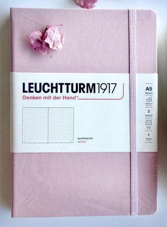 Agenda A5 LEUCHTTURM1917 Roz Pastel, liniatura punctata - Ultimul produs!!0