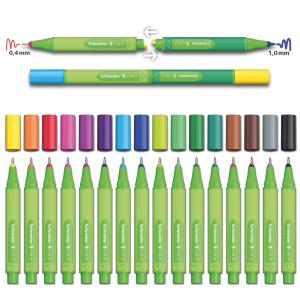 Set Finelinere Schneider Link-It 0.4 mm 16 culori3