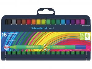Set Finelinere Schneider Link-It 0.4 mm 16 culori0