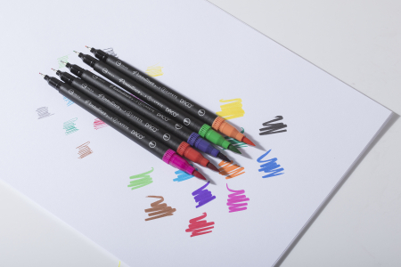 Set Pensuliner Daco 12 culori 2 capete - Stoc epuizat! [3]