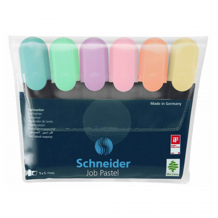 Set textmarker Schneider Job Pastel 6 culori/set [2]