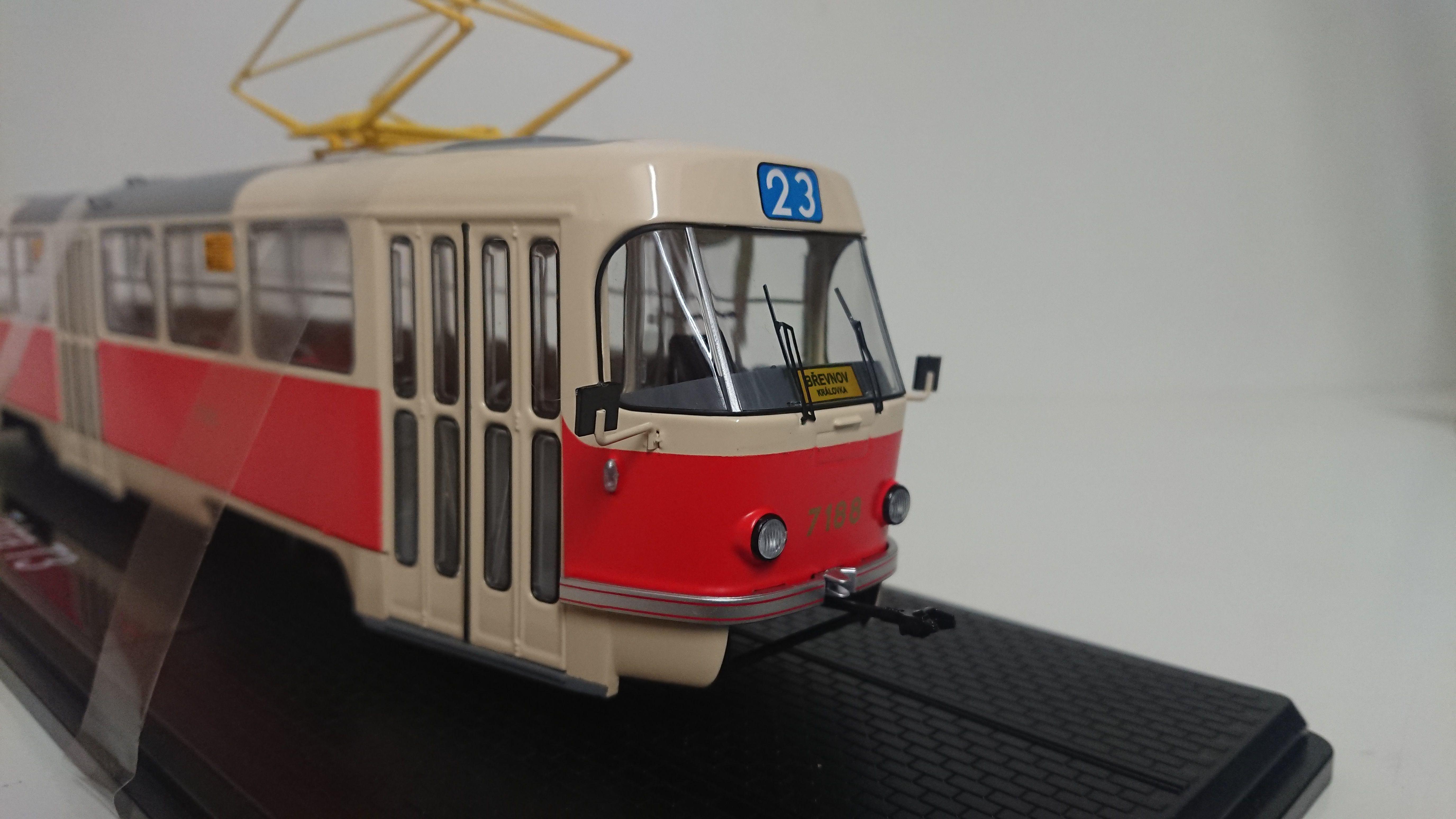 Macheta tramvai Tatra T3, scara 1:430