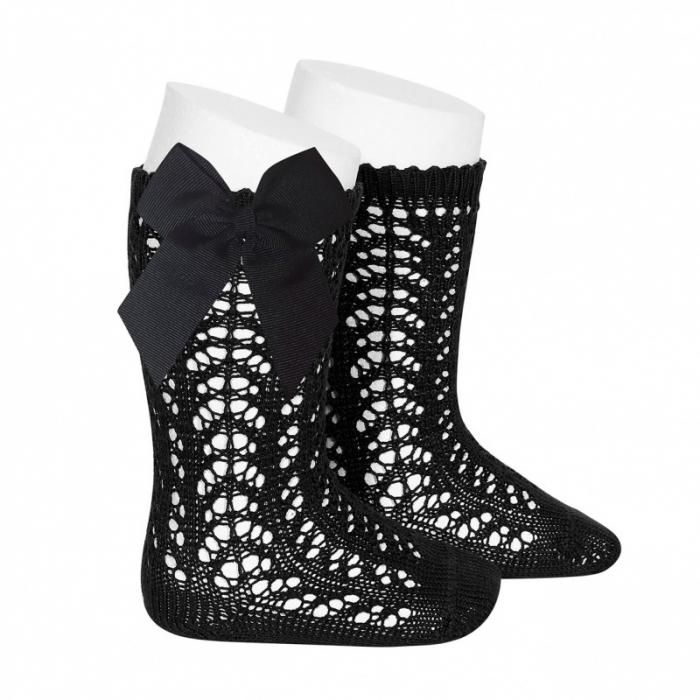 Sosete tricotate din bumbac - Black - [0]