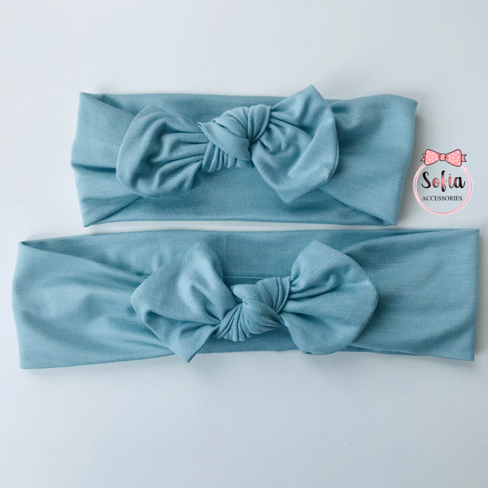 Blue Bamboo Mommy and Me Bows [0]